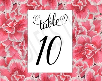Table Numbers Cards -  Table Numbers for Wedding - Table Numbers -  Table Numbers Wedding - Table Number Sign