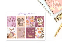 Woodland Sparkle Full Boxes | Planner Stickers | Physical Item