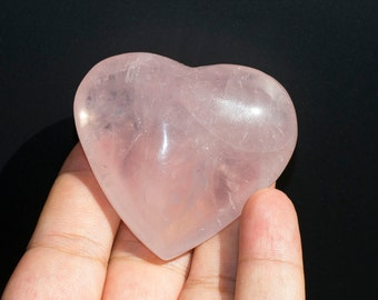 Rose Quartz  Heart  for Passion and Love