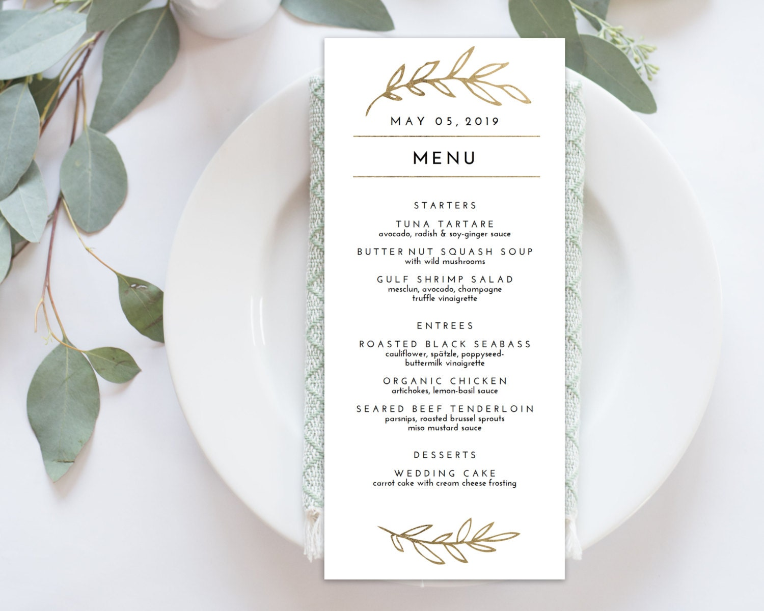 It's just an image of Inventive Printable Wedding Menus