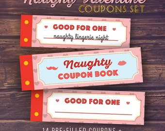 Gift for Boyfriend, Naughty Love Coupon Book | Printable Gifts, DIY Coupons, for Men, Husband, Funny Gift, Unique Anniversary Gift Ideas