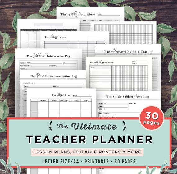 This is a picture of Fabulous Free Printable Teacher Planner Pdf