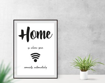 Art print / / home / / wifi