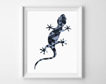Lizard Art Print, Lizard Wall art, Geometric Animal Art, Lizard Print, Gecko Wall Art, Lizard Wall Print, Reptile Art, Lizard Printable Art