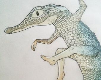 croc hybrid gloss print