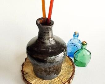 Metallic Ash Vase