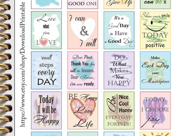 Inspirational Motivational Planner Stickers Quote Stickers Planner Printable Planner Stickers Download Planner Stickers (nb10)