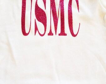 USMC. MARINES. Choose Your Color.  Onesie. Creeper. Bodysuit. Newborn. 0-3, 6, 9, 12, 18 months. Patriotic.  Graduation.  Fourth of July.