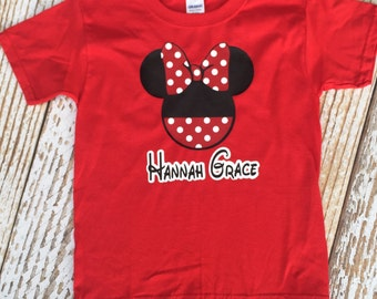 Minnie or Mickey shirt