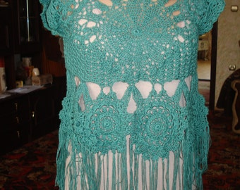 Crochet Top.Handmade.free shipping