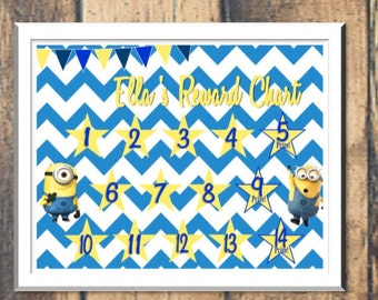 Minions Potty Chart or Reward Chart Downloads - Digital PDF Files -- or Minnie, Mickey Mouse, Frozen, Paw Patrol, Princesses, and more!