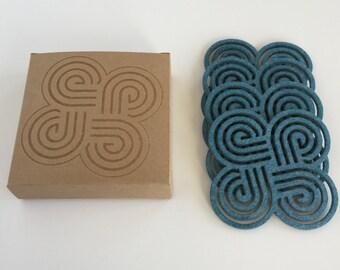 Cool Coasters - Drink Coasters - Minimalist - Felt Coasters - Modern