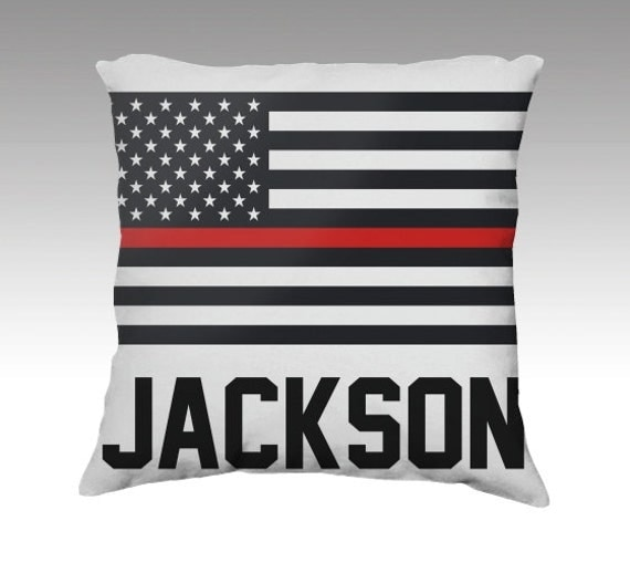 Items Similar To Fire Department Pillow Firefighter Home