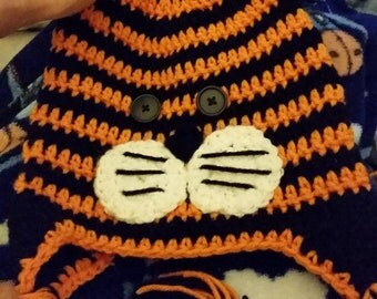 Tiger crocheted child's hat