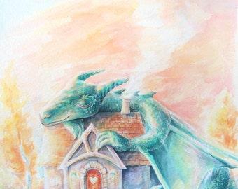 Dragon's Greatest Treasure - Giclee Print