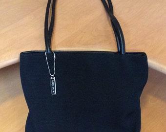 Vintage Black Fabric Nine West Handbag Purse