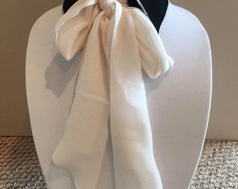 Two Tone Black and Cream Silk Chiffon Collar