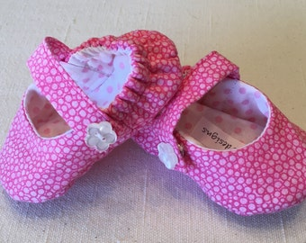 Pink & White Mary Janes