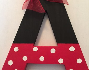 Minnie Mouse Wooden Letter