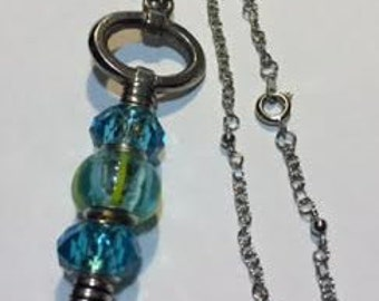 Interchangable key charm pendent necklace