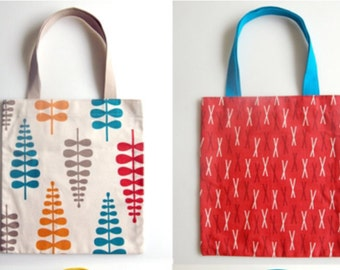 Homemade totes small and large for everyday use with creative fabric of your choice
