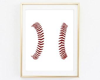 Printable - Baseball Close up home decor print wall art