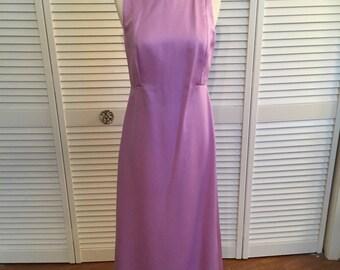 1960s plain lavender purple formal dress