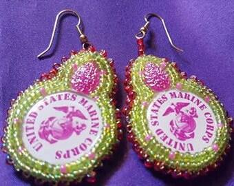 Navajo Made Beading Contemporary Earrings