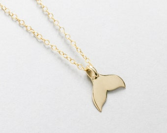 Whale Tail Pendant, Gold Whale Tail, Sterling Silver Whale Necklace, Man Necklace, Whale Foundation Jewelry, Whale Fluke Necklace, Hawaii