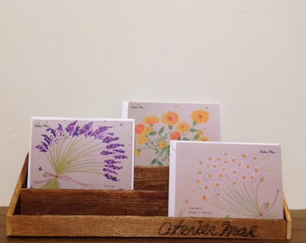 3 sets Greeting Cards 〜Herb series〜