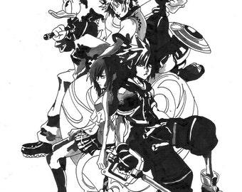 Pen drawing - Kingdom Hearts