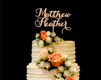 Personalized Cake Topper Wedding Cake Topper Names Bride and Groom Cake Topper