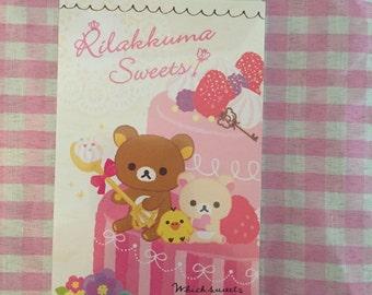 San-X Rilakkuma Sweets Memo Pad 4 designs