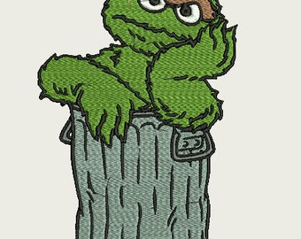 Embroidery Design - Oscar from Sesame Street - 5x7 Hoop Size