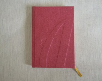 "Personalized Notebook with Letter ""A"""