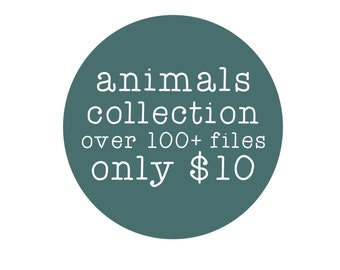 sale // animals collection // svg dxf file instant download silhouette cameo cricut clip art