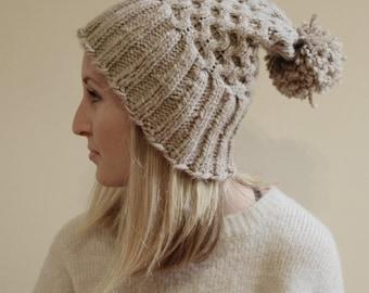 KNITTING PATTERN - Amanda Knit Hat Pattern (Child, Young Adult, Adult Sizes)