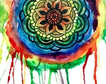 Original Watercolor Mandala