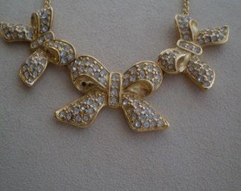Reduced Pricing/Vintage Monet Rhinestone Necklace