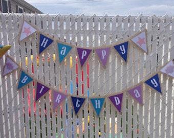Under The Sea Burlap Birthday Banner