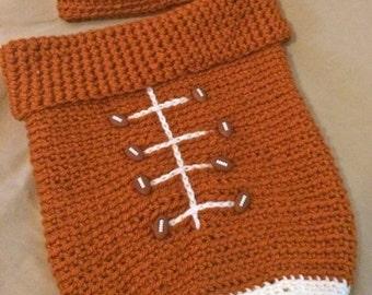 Crochet Photo Prop, Photo Prop, Baby Cocoon, Crochet Baby Cocoon, Crochet Football Cocoon, Crochet Cocoon, Newborn Cocoon,  Newborn Props