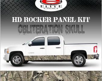 "Obliteration Tree Skull Camo Rocker Panel Graphic Decal Wrap Truck SUV - 12"" x 24FT"