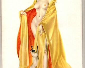 Vintage Nov 1964 Vargas pinup for playboy magazine wall art illustration drawing