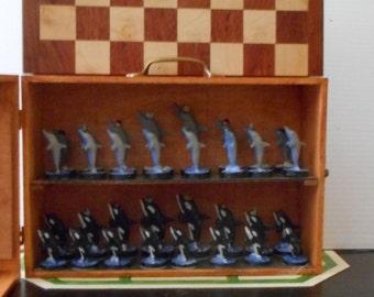 Unique Dolphin Chess Set