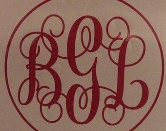 Vine Monogram with circle