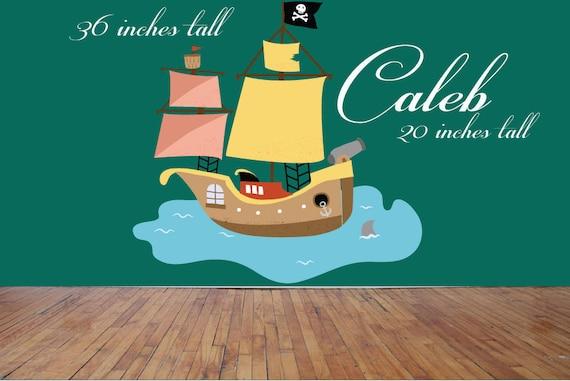 Custom Pirate Ship Wall Decal by TakijuleiDecals