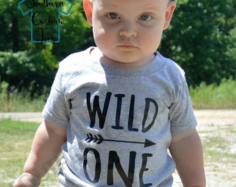 Wild ONE Shirt or Bodysuit, Wild One First Birthday Shirt, Boy First Birthday, Girl First Birthday, Wild One Birthday