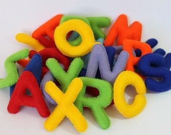 Felt Alphabet, Letters for Kids, Felt Stuffed Alphabet, Educational Toy, Colorful Letters, Felt Nursery Toy