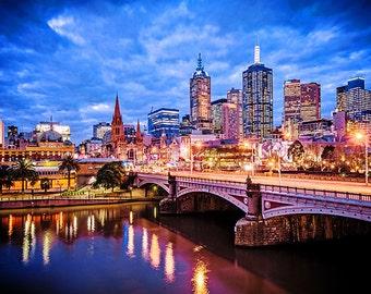 Melbourne photography fine art photograph city wallart urban decor Princess Bridge FREE SHIPPING within AUSTRALIA