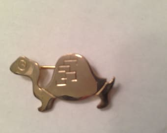 Vintage Turtle Pin Brooch